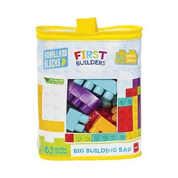 Mgs Oyuncak Smartland Big Blocks LEGO Çantalý 63 Parça URT-5826