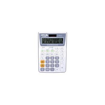 Ofica Hesap Makinesi Masa Tipi 12 Hane Beyaz TAX'lý FH-5200-B