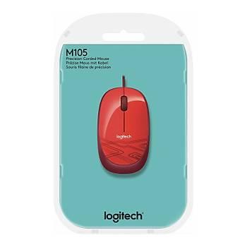 Logitech M105 Optik USB Mouse-Kýrmýzý