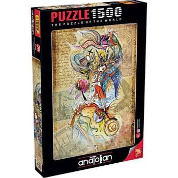 Anatolian Puzzle Dünyayý Gezen Cerkes Kýzý 1500 Parça Puzzle