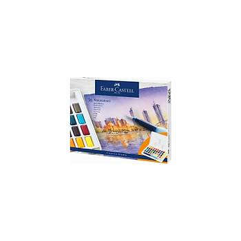 Faber-Castell Creative Studio Sulu Boya Tava Boyalarý 36 Renk Seti Su Fýrçasý Içerir