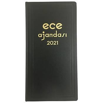 Ece Ajandasý - 2021 Ticari Koleksiyonu - Asya 17 x 33 cm Siyah