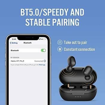 Haylou GT1 PRO TWS Siyah Kablosuz Bluetooth 5.0 Kulaklýk AAC IPX5 DSP