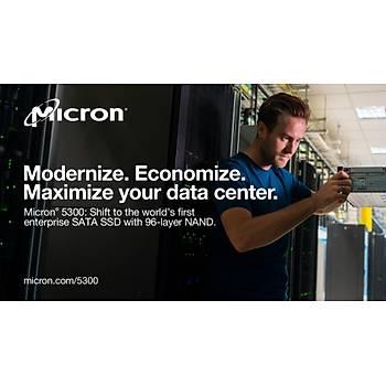Micron 5300 PRO 960GB SATA 2.5 SSD MTFDDAK960TDS-1AW1ZABYY Sunucu Server Datacenter Enterprise (7mm) Non-SED