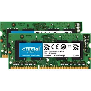 Crucial CT2KIT102464BF160B 16GB KÝT (2x8GB) DDR3 1600MHz SODIMM NOTEBOOK RAM BELLEK