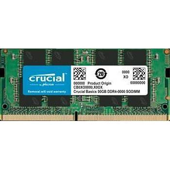Crucial 8GB DDR4 2666MHz SODIMM NOTEBOOK RAM BELLEK CB8GS2666