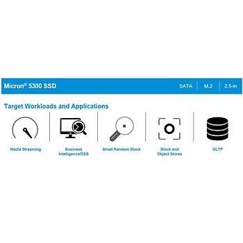 Micron 5300 PRO 480GB SATA 2.5 Sunucu Server Datacenter SSD (MTFDDAK480TDS-1AW1ZABYY)