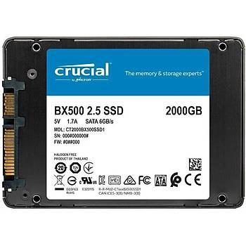 Crucial BX500 2000GB SSD 540-500 3D NAND SATA 2.5 CT2000BX500SSD1