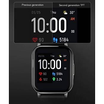 Haylou LS02 Akýllý Saat Siyah IP68 Suya Dayanýklý iOS Android Uyumlu Nabýz Takip