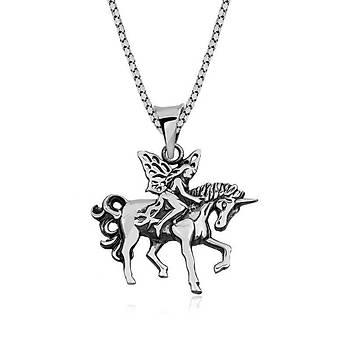 ?Gümüþ Perili Unicorn Kolye