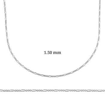 1.50 mm Gümüþ Figaro Zincir - 0.40 mikron