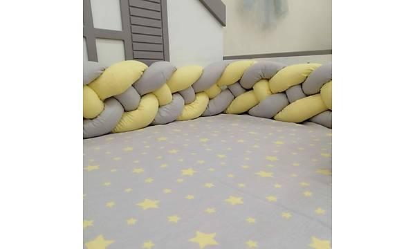 Merkür 4'lü Örgülü Uyku Seti, Montessori Karyolalar Ýçin 90x190