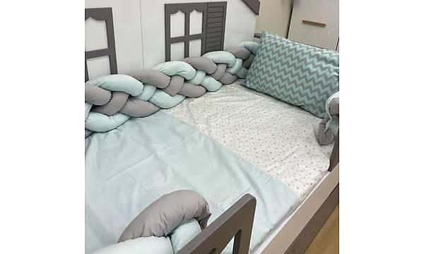 URANÜS - 4'lü Örgülü Uyku Seti, Montessori Karyolalar Ýçin 90x190