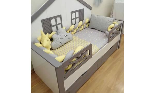 Merkür 4'lü Örgülü Uyku Seti, Montessori Karyolalar Ýçin