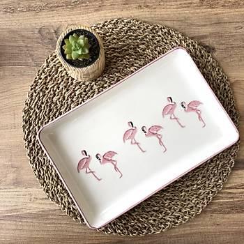 Flamingo 3 'lü Kayýk Tabak 27,5*17,5 CM