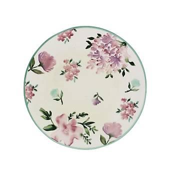 Floral 6lý Servis Tabaðý 25 cm