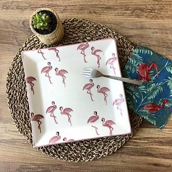 Flamingo 6 lý Kare Pasta Tabaðý 18,5cm