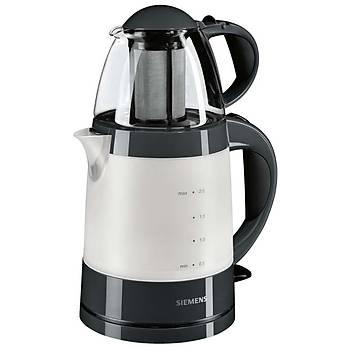 Siemens TA22005 1500 W 0.7 lt Demleme 2.0 lt Su Isýtma Kapasiteli Çay Makinesi Siyah - Gümüþ