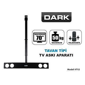 Dark DK-AC-VT12 VT12 37 - 70 inch Yükseklik Ayarlý Hareketli Tavan Tipi Tv Aský Aparatý