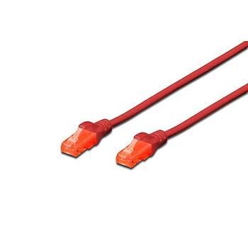 Digitus DK-1617-100/R 10 Mt U/UTP CAT6 AWG26/7 Cu LSZH Kýrmýzý Patch Cord Kablo