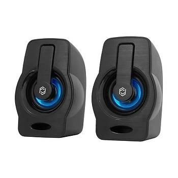 Frisby FS-2128U 1+1 6W USB RGB Ledli Siyah Hoparlör