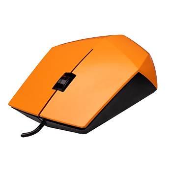 Everest SM-201 USB 1200Dpi 3 Tuþlu Kablolu Optik Turuncu Mouse