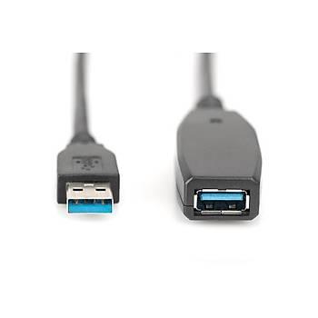 Digitus DA-73105 10 Mt USB 3.0 to USB 3.0 Aktif Erkek-Diþi Usb 3.0 Uzatma Kablosu