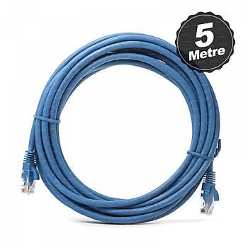 Dark DK-CB-NT6U500BU 5 Mt CAT6 Cu AWG24/7 UTP Mavi Patch Cord Kablo