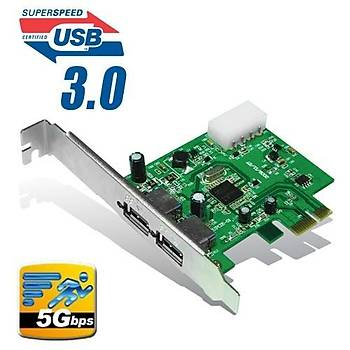 Dark DK-AC-U3P U3P 2 x USB 3.0 Portlu PCI Express x1 Kartý