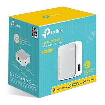 Tp-Link TL-MR3020 1 Port 10/100 Mbps 2.4 Ghz Portatif 3G/4G Kablosuz N Access Point