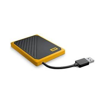 Western Digital WDBMCG0010BYT-WESN 1 TB My Passport Go Amber 2.5 inch USB 3.0 SSD Harici Harddisk