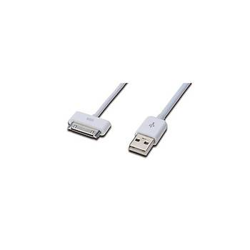 Ednet ED-31002 1 Mt USB 2.0 to iPod Ýphone iPad 30 Pin AWG 30 Ul Beyaz Þarj Data Kablosu