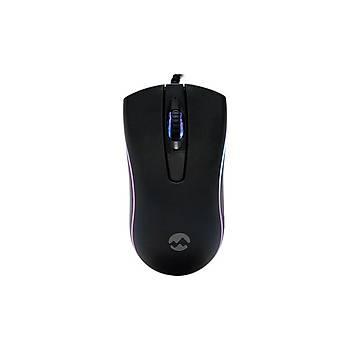 Everest SM-M9 USB 1000Dpi 3 Tuþlu Kablolu 3D Ledli Optik Siyah Mouse