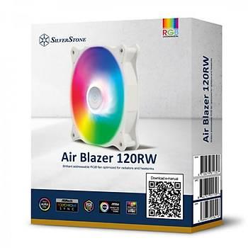 Silverstone SST-AB120RW-ARGB Air Blazer 120R 12cm ARGB Fanlý Beyaz Kasa Faný