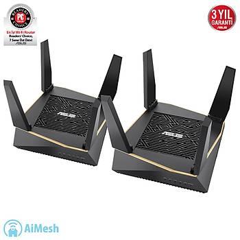 Asus RT-AX92U AX6100 Wi-Fi 4 Port Gigabit 4 Antenli 2 li Paket Oyuncu Router