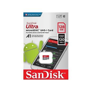 Sandisk SDSQUA4-128G-GN6MN 128 GB 120Mb/s HC-I Ultra Android microSD Hafýza Kartý
