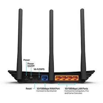 Tp-Link TL-Wr940N 450 Mbps 2.4Ghz 4 Port 3X5 Dbi Router