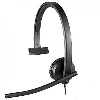 Logitech 981-000571 H570E Mono Kafa Bantlý Kablolu Mikrofonlu Kulaklýk