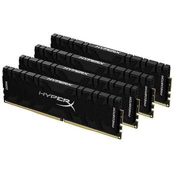 Kingston HX430C16PB3K4/128 128 GB (4x32) DDR4 3000Mhz CL16 HyperX Predator Bilgisayar Bellek