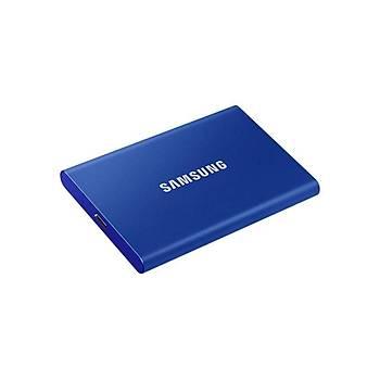 Samsung MU-PC500H/WW 500 GB T7 miniUSB 3.2 Mavi Taþýnabilir SSD Harddisk