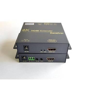 Beek BS-EXT-H4K-100 100 Mt RJ45 to HDMI 4K 1080p 60Hz Alýcý Verici HDMI Sinyal Mesafe Uzatýcý