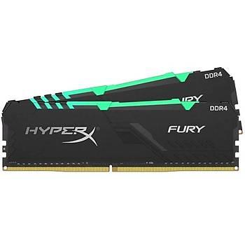 Kingston HX436C18FB4AK4/64 64 GB (4x16) DDR4 3600Mhz CL18 RGB HyperX Fury Bilgisayar Bellek