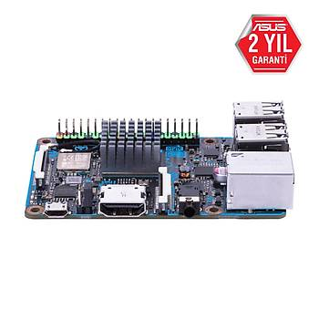 Asus TINKER BOARD ARM S Sc-AM4 2 GB DDR3 1600Mhz Sd Kart Wi-Fi Onboard Intel Anakart