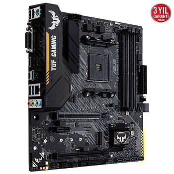 Asus TUF GAMING B450M-PLUS II Sc-AM4 B450 DDR4 4400(OC) M2 mATX Amd Anakart