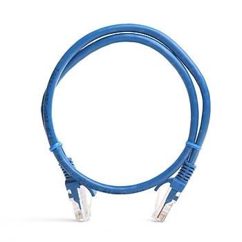 Tx TX-CB-NT5U50BU 0,50 Mt CAT5E Cca Solid UTP Mavi Patch Cord Kab