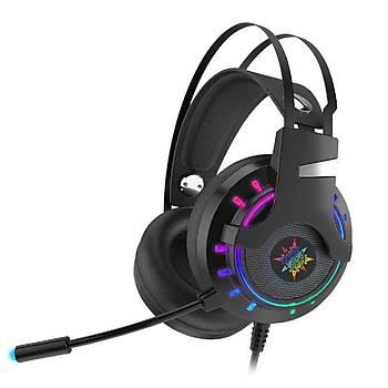 Inca IGK-X10 Lapetos Serisi 7.1 Surround RGB Led Sunctional Vibration Gaming Kablolu Kulaklýk