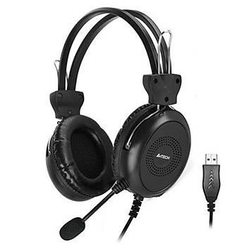 A4 Tech HU-30 Stereo Kulaküstü Mikrofonlu Kablolu Siyah Kulaklýk