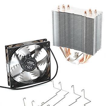 Dark DKCCX120 Freezer X120 Intel/Amd 12 cm Mavi Led Fanlý Ýþlemci soðutucusu