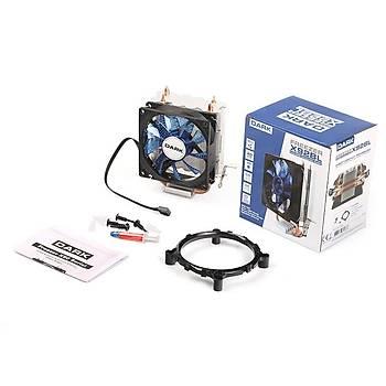 Dark DKCCX92BL Freezer X92 Intel/Amd/Ryzen 12 cm Mavi Led Fanlý Ýþlemci Soðutucusu