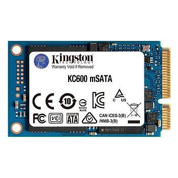 Kingston SKC600MS/512G 512 GB 550/520Mb/s mSATA 22x42 SSD Harddisk
